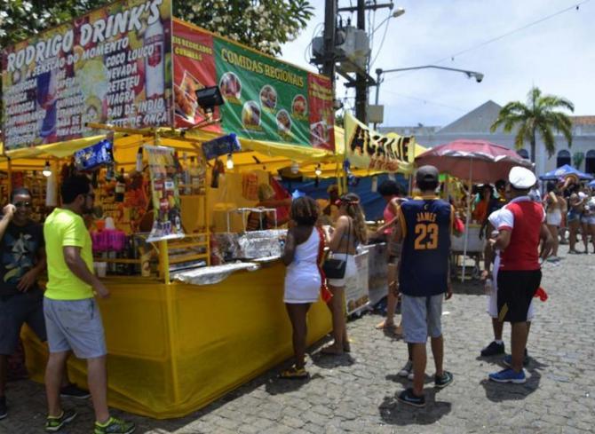Vendedor ambulante carnaval Olinda