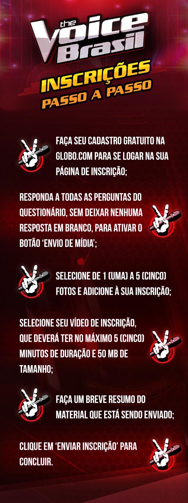 Inscrição The Voice Brasil Passo a Passo
